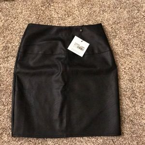 Black Missguided Leather Skirt NWT